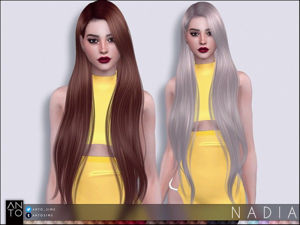 The Sims Resource: Nadia hair by Anto for Sims 4