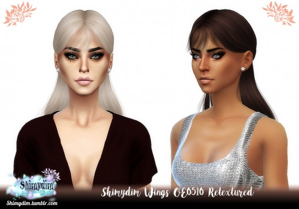 Shimydim: Wings OE0510 Hair Retextured for Sims 4