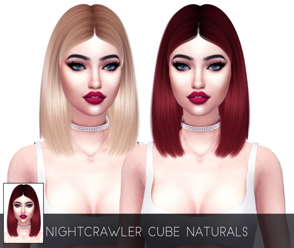 Kenzar Sims: Nightcrawler`s Cube hair retextured for Sims 4