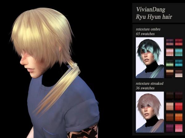The Sims Resource: VivianDang`s Ryu Hyun hair retextured for Sims 4