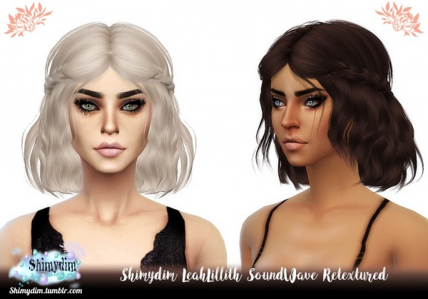 Shimydim: LeahLillith`s SoundWave Hair Retextured for Sims 4