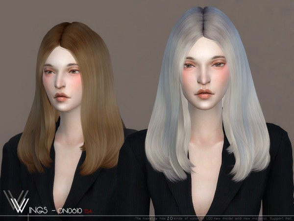 The Sims Resource: WINGS ON0610 hair for Sims 4