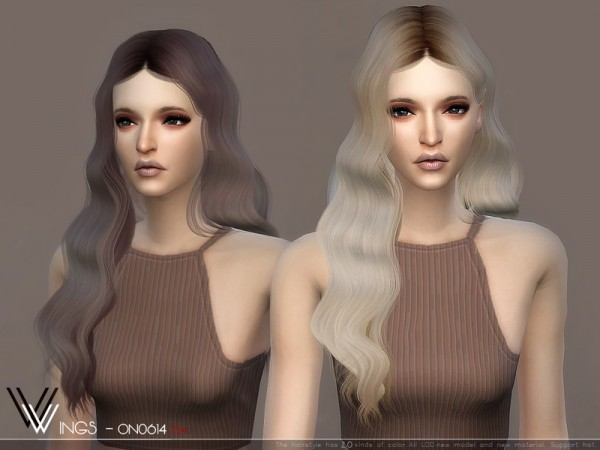 The Sims Resource: WINGS ON0614 hair for Sims 4