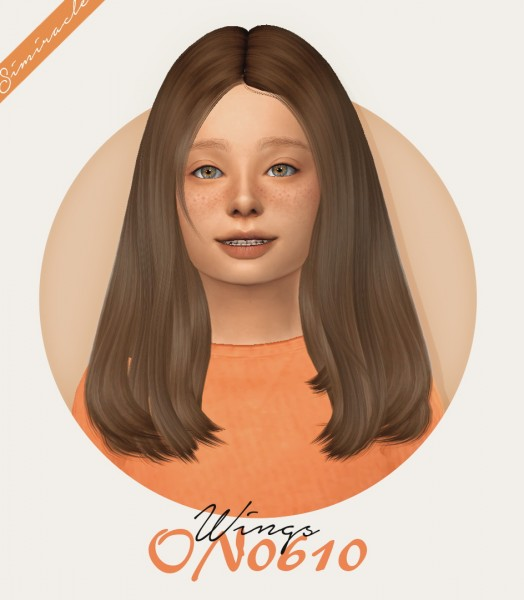 Simiracle: WINGS ON0610 hair retextured for Sims 4