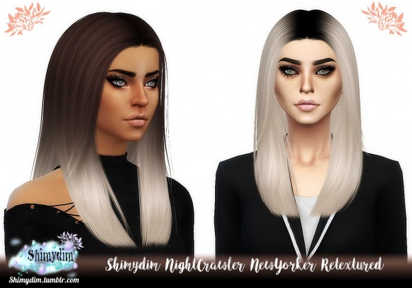 Shimydim: NightCrawler`s NewYorker Hair Retextured for Sims 4