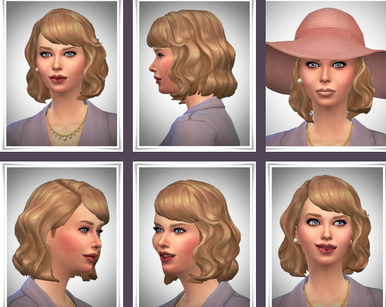 Birksches sims blog: Vintage Waves hair for Sims 4