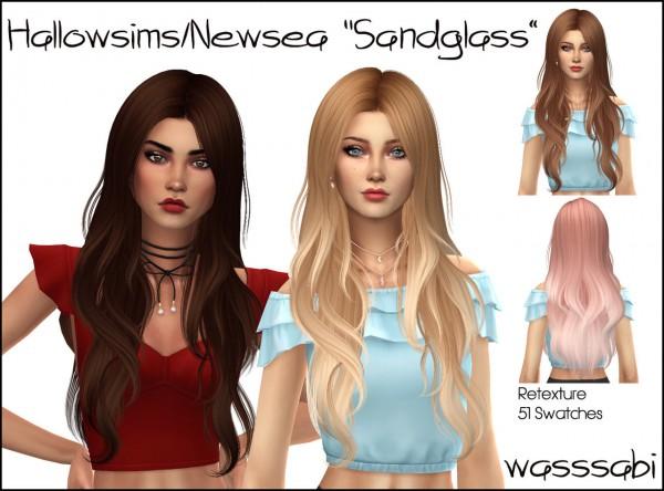 Wasssabi Sims: Hallowsims Sandglass hair retextured for Sims 4