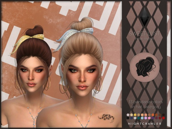 The Sims Resource: Sweet Lust Hair by Nightcrawler Sims for Sims 4