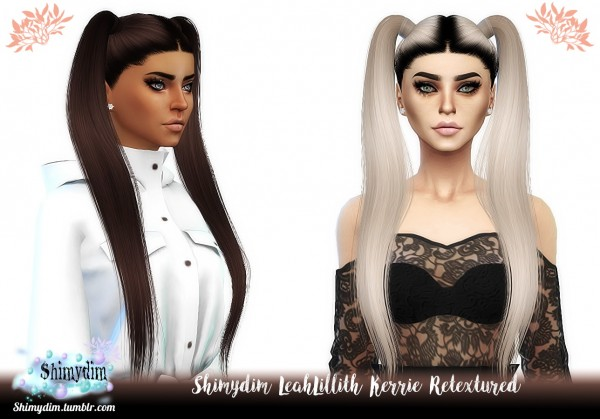 Shimydim: LeahLillith`s Kerrie Hair Retextured for Sims 4