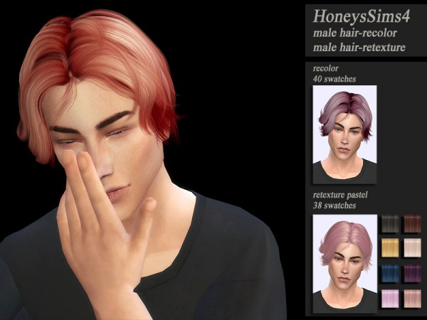The Sims Resource: Wings OE0111 hair retextured by Jenn Honeydew Hum for Sims 4