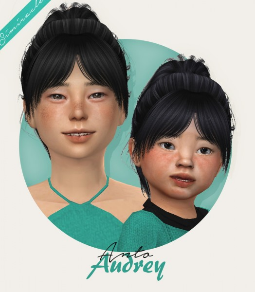 Simiracle: Anto`s Audrey hair retextured for Sims 4