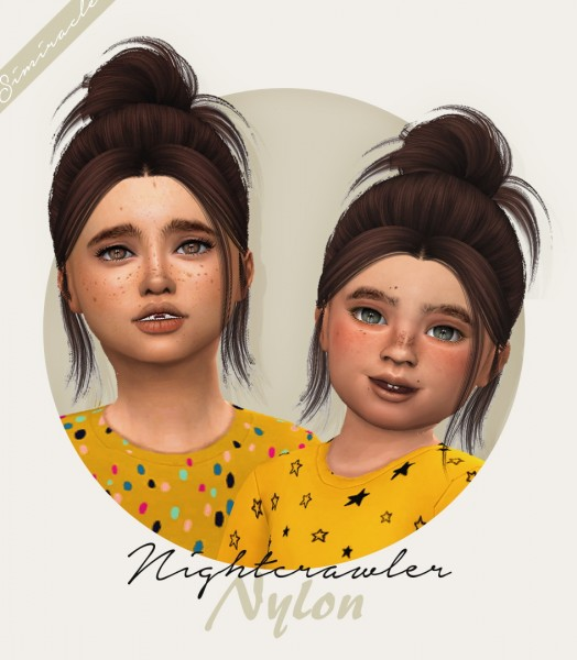 Simiracle: NightCrawler`s Nylon Hair Retextured for Sims 4