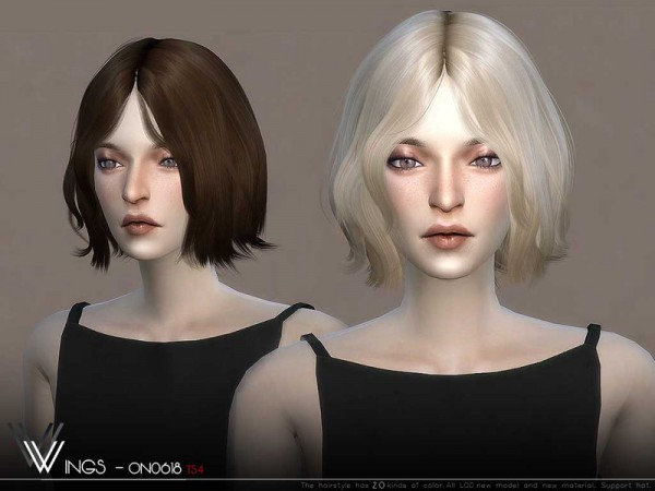 The Sims Resource: WINGS ON0618 hair for Sims 4