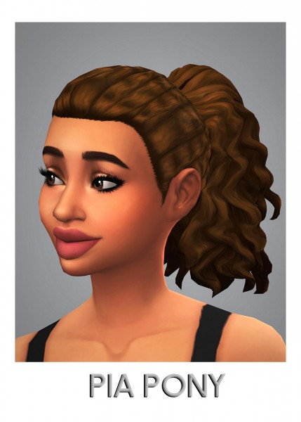 Savvy Sweet: Pia Pony Hair for Sims 4