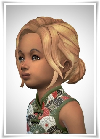 Birksches sims blog: Toddler Short Pony Lose Hair for Sims 4