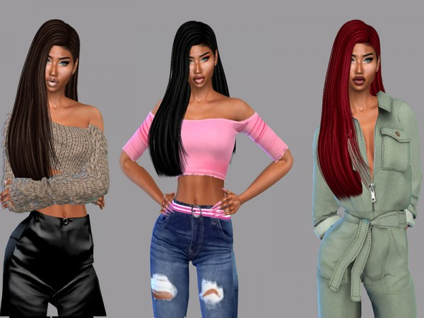 The Sims Resource: Mija Hair Recolor Dreds by Teenageeaglerunner for Sims 4