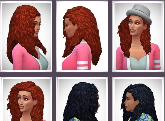 Birksches sims blog: Long Tight Curls Free Ear hair for Sims 4