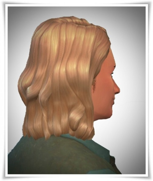Birksches sims blog: Gary Wave Hair for Sims 4