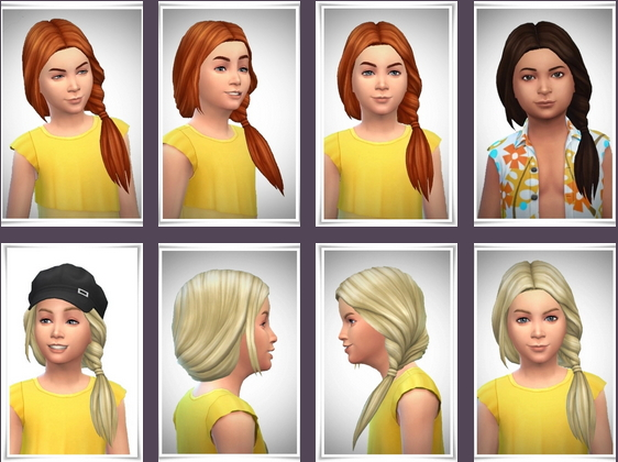 Birksches sims blog: Kids Topsy Tail Hair for Sims 4