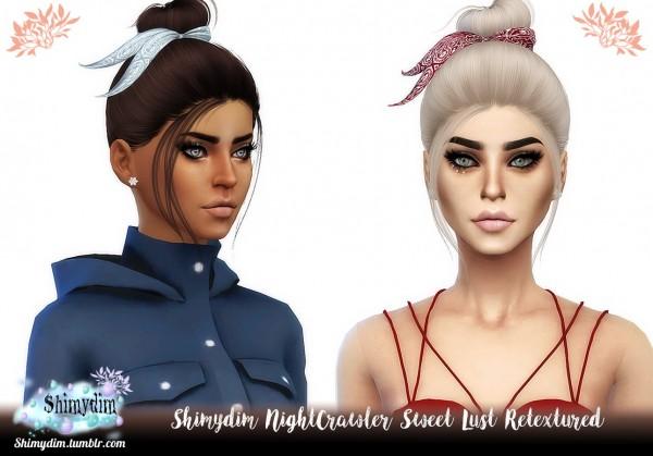 Shimydim: Nightcrawler `s Sweet Lust hair retextured for Sims 4