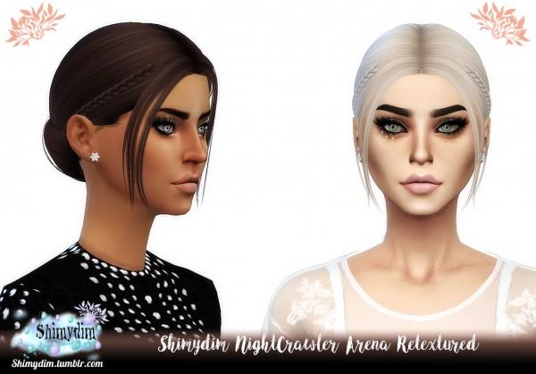 Shimydim: NightCrawler`s Arena Hair Retextured for Sims 4