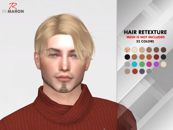 The Sims Resource: Notre Dame Hair Retextured by reamron for Sims 4