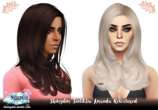 Shimydim: Sintiklia`s Amanda Hair Retextured for Sims 4