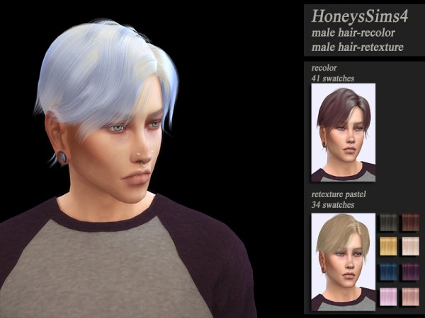 The Sims Resource: Wings OS1006 hair retextured by Jenn Honeydew Hum for Sims 4
