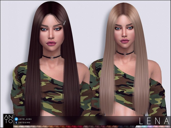 The Sims Resource: Lena hair by Anto for Sims 4