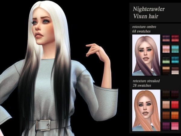 The Sims Resource: NightCrawler`s Vixen Hair Retextured for Sims 4