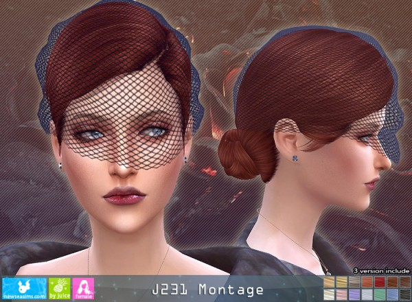 NewSea: J231 Montage Hair for Sims 4
