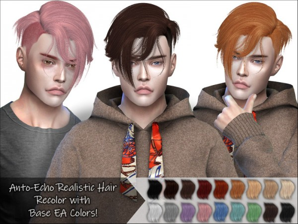 The Sims Resource: Anto`s Echo Hair Recolored for Sims 4