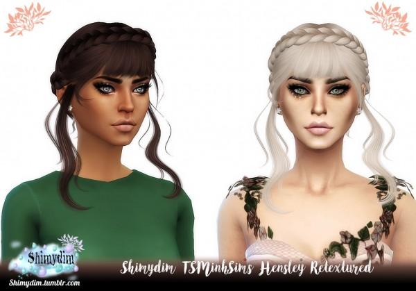 Shimydim: Tsminh`s Hensley hair retextured for Sims 4