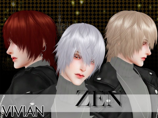 The Sims Resource: Hair Zen by VivianDang for Sims 4