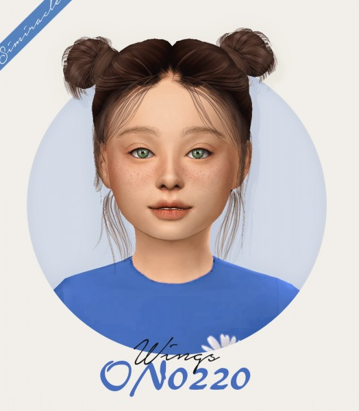 Simiracle: Wings ON0220   Hair retextured Kids Version for Sims 4
