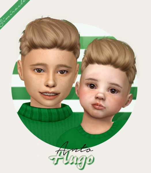 Simiracle: Anto`s Hugo Hair retextured for Sims 4