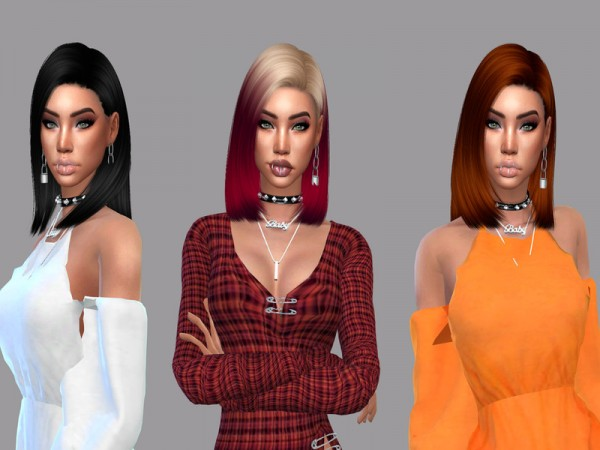 The Sims Resource: Crow Hair Recolored by Teenageeaglerunner for Sims 4
