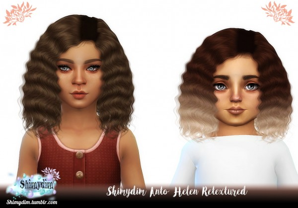 Shimydim: Anto`s Helen Hair Retextured for Sims 4