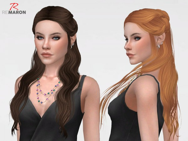 The Sims Resource: Wings ON0510 Hair Retextured by remaron for Sims 4