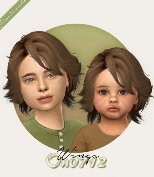 select a Website   : Wings ON0712 hair retextured for Sims 4
