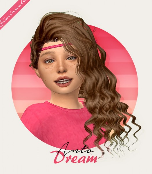 Simiracle: Anto`s Dream hair retextured   Kids Version for Sims 4
