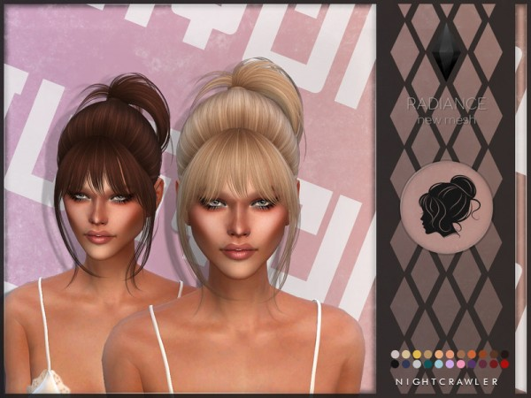 The Sims Resource: Radiance hair by Nightcrawler Sims for Sims 4