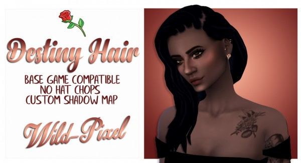 In My Dreams: Destiny Hair for Sims 4