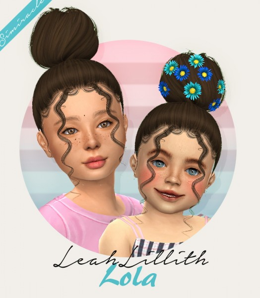 Simiracle: LeahLillith`s Lola Hair Retextured for Sims 4