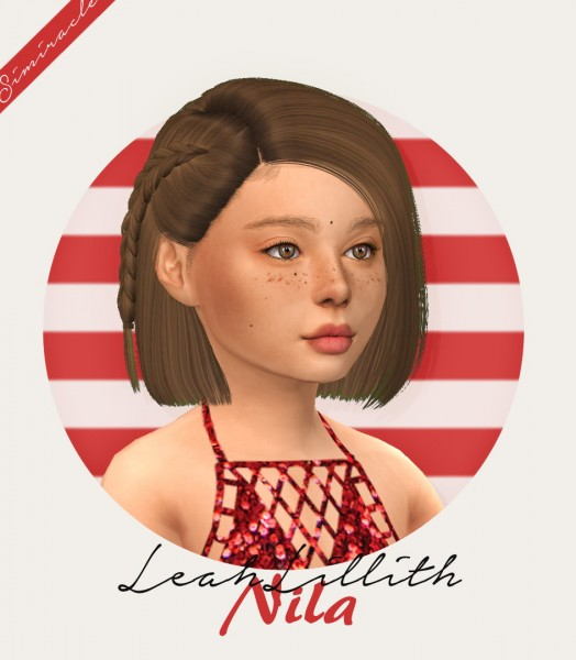 Simiracle: LeahLillith`s Nila Hair Retextured   Kids Version for Sims 4