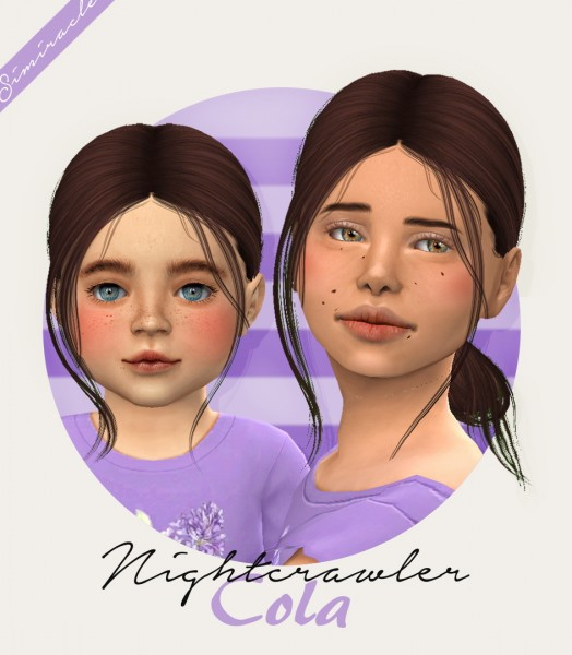 Simiracle: Nightcrawler`s Cola hair retexture for Sims 4