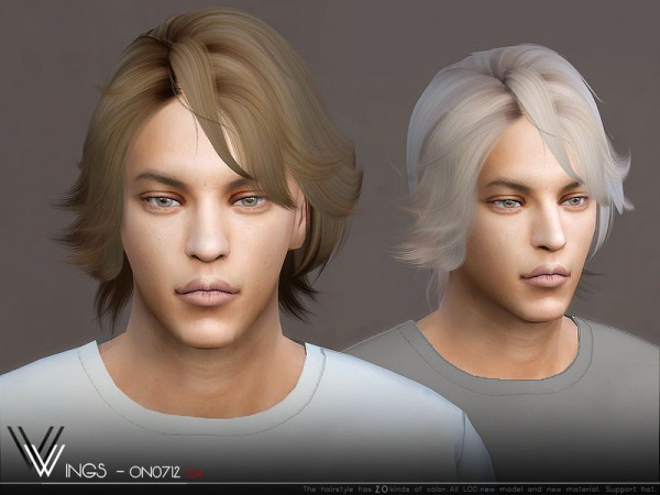 The Sims Resource: WINGS ON0712 Hair for Sims 4