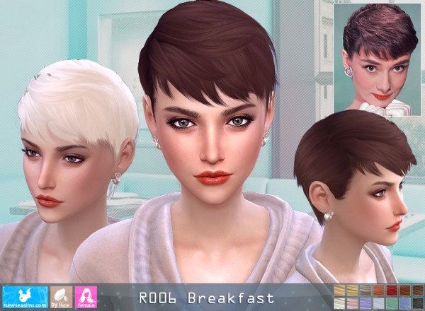 Newsea Roo6 Breakfeast Hair Sims 4 Hairs
