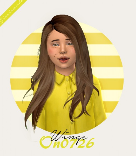 Simiracle: Wings ON0726 hair retextured   Kids Version for Sims 4