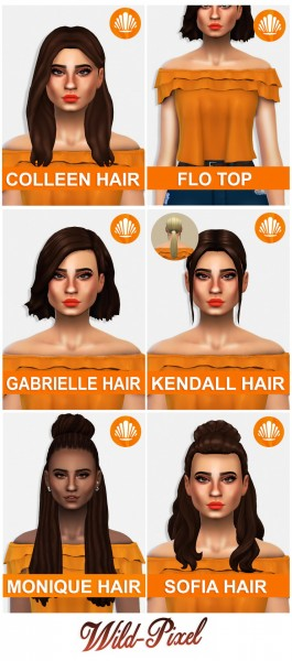 In My Dreams: Summer in sulani Hair Pack for Sims 4